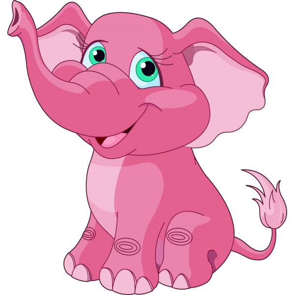 Как нарисовать розова слона
