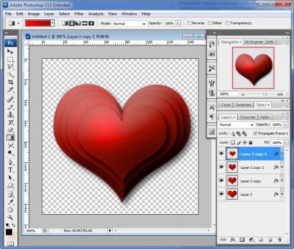 Набор сердечек для создание анимации