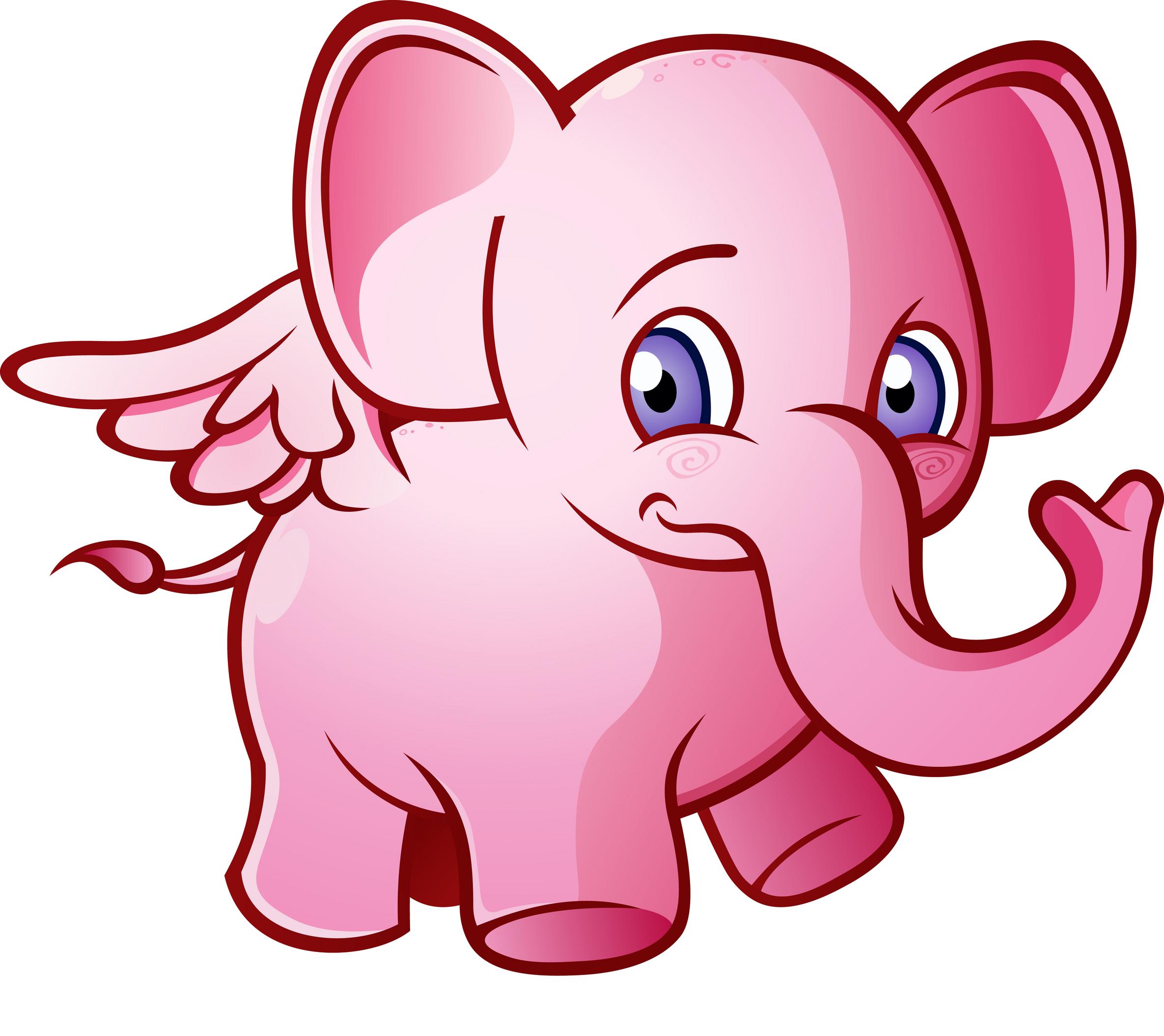 Картинки розовый слоник, новому