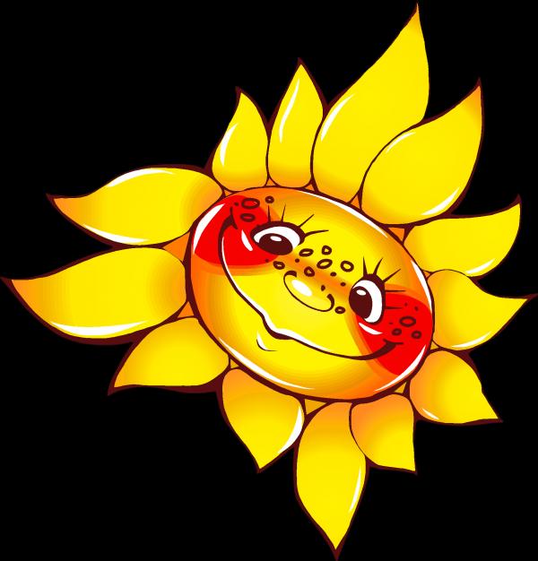 Солнышко картинки нарисованное 7