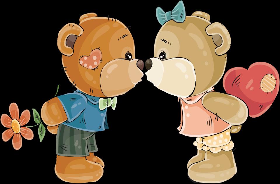 Картинки мишки поцелуй