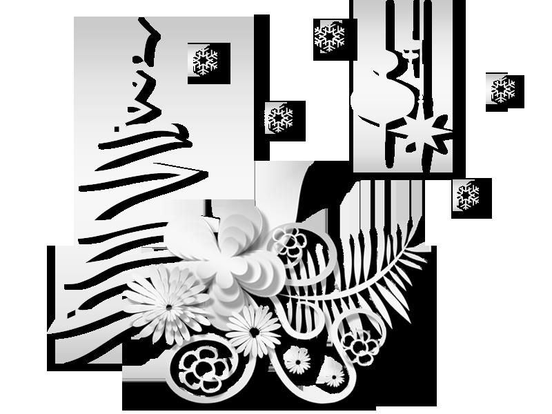 Новогодний белый клипарт