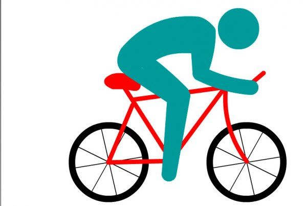 Велосипедист на дороге. Урок