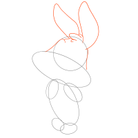 рисуем кролика по шагам